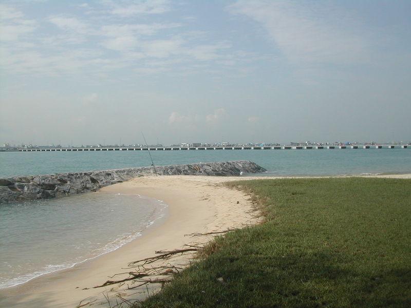 Bedok jetty breakwater stone