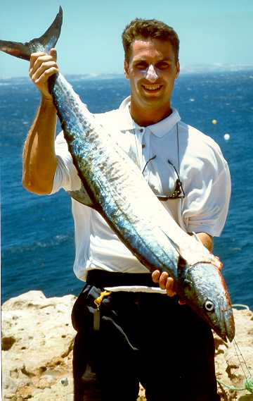 Another Big Mackeral from Australia rock fishing