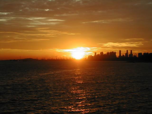 sunsetcityskyline